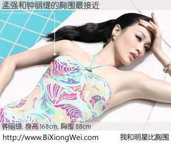 #我和明星比胸围# 身高 167cm,胸围 88cm,Oh, My God!孟强与香港影星钟丽缇的胸围最接近!有图有真相: