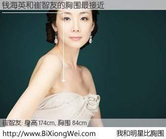 #我和明星比胸围# 身高 174cm,胸围 84cm,别不好意思!钱海英与韩国演员崔智友的胸围最接近!有图有真相: