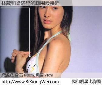 #我和明星比胸围# 身高 170cm,胸围 92cm,奇迹发生了!林葳与香港明星梁洛施的胸围最接近!有图有真相: